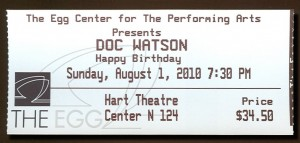 Doc Watson at The Egg, Albany