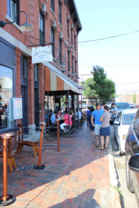 Outdoor Seating at Duckfat, Portland, Maine